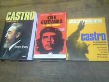 Lot 3 livres Castro le romantisme révolutionnaire Ché Guévara les années décisiv