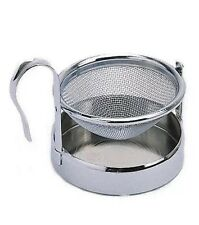 Le'Xpress New Stainless Steel Tea Strainer & Drip Collecting Stand - KC106SS