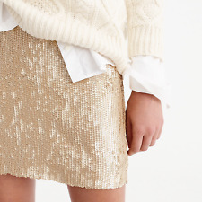 BNWT J CREW MATT GOLD SEQUIN MINI SKIRT SIZE 10