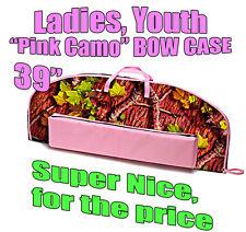 "39"" PINK CAMO Archery BOW CASE Fits Mathews Genesis Girls, Ladies Soft Case"