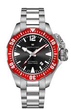 Hamilton Khaki Navy Frogman Auto Stainless Steel Black Dial Men Watch H77725135
