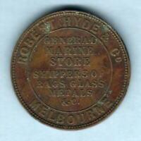 Australia Token.. 1861 Hyde & Co - Penny.. Melbourne Vic.. VF+