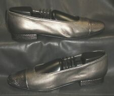 Vaneli 2 tone metallic leather cap toe pumps Women's shoes size 6 1/2 M
