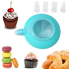 Kitchen Tip Sets Bakery Cake Muffin Macaroon Piping Icing Baking Pot 4 Nozzles