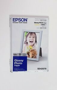 Epson Glossy Photo Paper Genuine - 4 x 6in. - 20 Sheets S042070 - New & Sealed