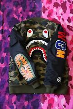 Bape Shark MA-1 bomber Jacket Green Large Hoodie WGM JAPAN Girl A bathing ape