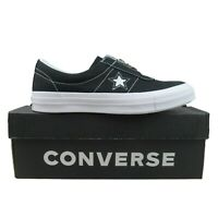 Converse One Star Slip On OX Front Zip Black White Size 10 Womens NEW 564206C