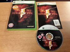 RESIDENT EVIL 5 XBOX 360 Game Capcom Complete Microsoft 18+ Undead PAL FREEPOST