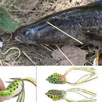 5PCS Large Frog Topwater Soft Fishing Lure Crankbait Hooks Bass Bait Tackle New