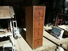 Vintage Wood File Cabinet Automatic Co. Green Bay WI Home Decor Antique Old