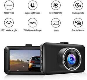 "1080P HD Car Dash Cam Emergency Record 3"" LCD Display 170° Wide Night Vision GIF"