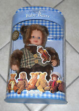 Bambola ANNE GEDDES BABY BEARS - NUOVA 2001 Doll Signature collection Orsetto