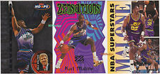 (3)TALKIN HOOPS/ZENSATIONS DIE-CUT/FLEER SUPERSTARS: KARL MALONE-JAZZ INSERT LOT