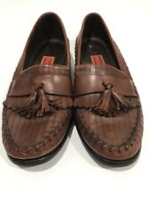 Cole Haan Country Women's Brown  Leather Loafers W /Stitch And Tassel Size  8 B