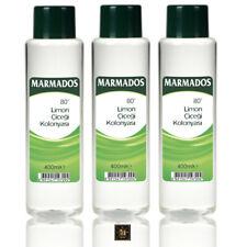 3x Marmados After Shave Lemon Cologne 80° 400 ml Limon Kolonyasi