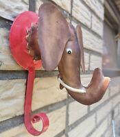 Metall Haken Elefant Vintage Braun Wandhaken Garderobe Kinder Bunter Hook