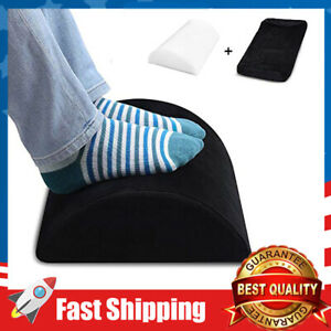 Foot Rest Under Desk Soft Yet Firm Foam Foot Cushion for Home Office-Black