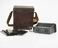 JULES RICHARD Paris Glyphoscope (Type 2) Stereo Camera with Case & Plates (T80)
