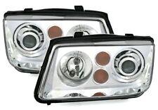 CHROME finish projector Headlights front lights SET for VW BORA 98-05