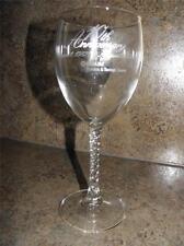 (2) Vintage METLIFE Metropolitan Life 10th ANNIVERSARY Swirl Stem WINE GLASSES