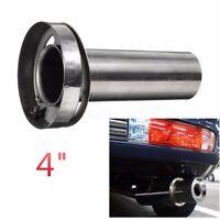 4'' Universal Insert Stainless Exhaust Silencer Muffler Killer Outlet Tip AU
