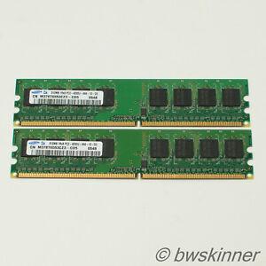 2x 512MB 1Rx8 PC2-4200U-444 Samsung RAM Modules. M378T6553CZ3. 1GB.