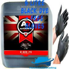 AUTOBRITE DIRECT 5 LITRE BLACK DYE UPHOLSTERY FABRIC DYE TRIM CARPET STAIN 5L+GL