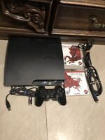SONY PLAYSTATION 3 (PS3) SLIM EDITION CECH-2001A GAME CONSOLE SYSTEM BLACK 120GB