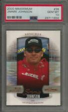 2000 Maxximun #38 Jimmie Johnson RC Rookie PSA 10 GEM MINT Racing Card