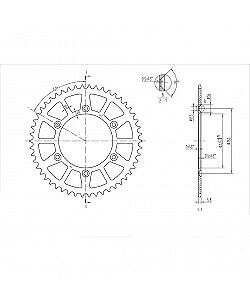 BikeMaster - 240 897 50 - Steel Rear Sprocket, 50T