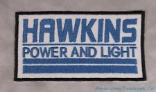Embroidered Retro 80s Stranger Things Hawkins Power and Light Patch Iron On Sew