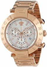 Versace Men's VA8040013 REVE Chronograph Silver Dial Rose Gold IP Steel Watch