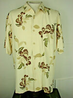 Tommy Bahama 100% Silk Floral  Shirt... Mens Size Medium ...Short Sleeve