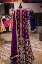 Asiatique/Indien/Pakistani Designer Anarkali mariage Salwar Kameez Suit/cousu