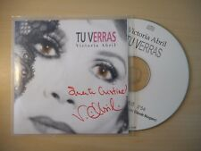 VICTORIA ABRIL : TU VERRAS (CLAUDE NOUGARO) *dédicassé* [ CD SINGLE ]