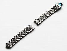 Uhrenarmband Metall 18mm Edelstahl poliert Anstoß Halbrund Faltschließe Poljot