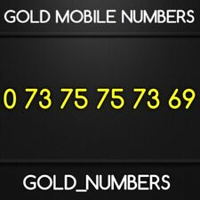 GOLD MOBILE NUMBER MEMORABLE EASY VIP BUSINESS GOLDEN	07375757369