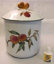 """Royal Worcester EVESHAM VALE Flour Canister 6059233--7"""" Base & Lid--Lovely!"""