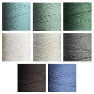 T-Shirt Yarn Crochet Knitting Zpaghetti Recycled Cotton Rug 10 20 30 metres DIY