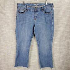 Old Navy The Flirt Capri Stretch Jeans Size 14 Cut Off w Fraying