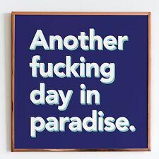 PARADISE - signed petestreet ltd ed print - banksy faile obey