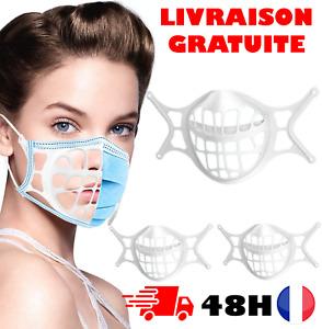 Support De Masque 3D - 3PCS Coque Pour Masque Support Protection en Silicone