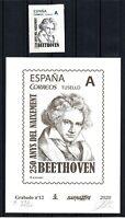 Gravat y segell Barnafil 2020 nº 12 Beethoven 250 Anys Naixement 400 exemplars