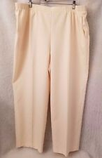 Alfred Dunner Woman's Plus Ivory Elastic Waist Pants Size 22W