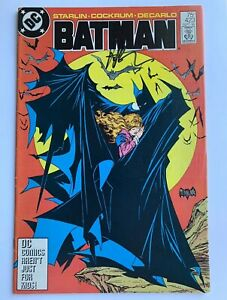 Batman 423 Signed By Jim Starlin 2nd Printing VG/F Todd McFarlane Classic Cover