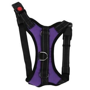 Adjustable Pet Harness Lead Dog Vest Collar Saddle Shape Soft Padded KY