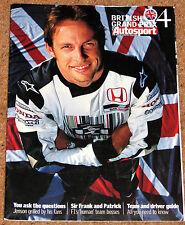 Autosport 2004 BRITISH GRAND PRIX GUIDE -25 Years of Williams,Cristiano da Matta