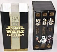Star Wars Trilogy Box Set of 3 VHS Tapes A New Hope Return of the Jedi Empire...