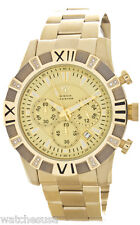 Aqua Master Men's Yellow Gold Dial Stainless Steel Band Diamond Watch W333