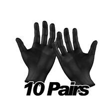 Disposable Black Powder Free Nitrile Gloves Tattoo Mechanic Car Valeting 10 Pair